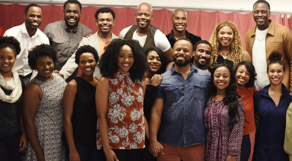The cast of The Color Purple talks with media and gives a preview performance of the title track of the show at Ripley-Grier Studios in New York City Wednesday, October 20, 2017. The show will be teching at Proctors in October.