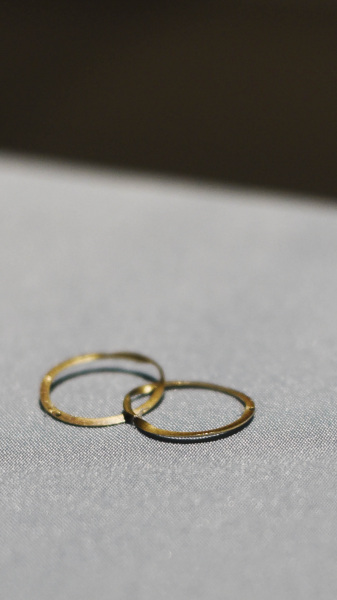 Alexander Hamilton and Elzabeth Schuyler's wedding rings at the Albany Institute of History and Art in Albany Friday, August 16, 2019.