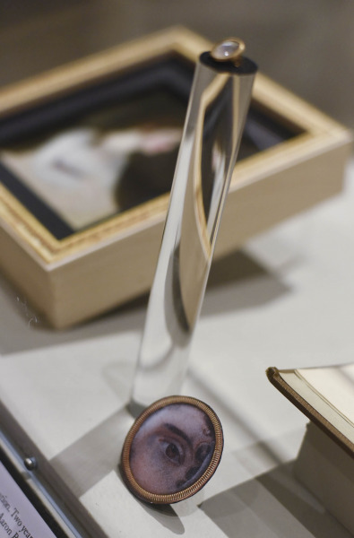 A small pin of Theodosia Burr's eye, on display at the Albany Institute of History and Art in Albany Friday, August 16, 2019.