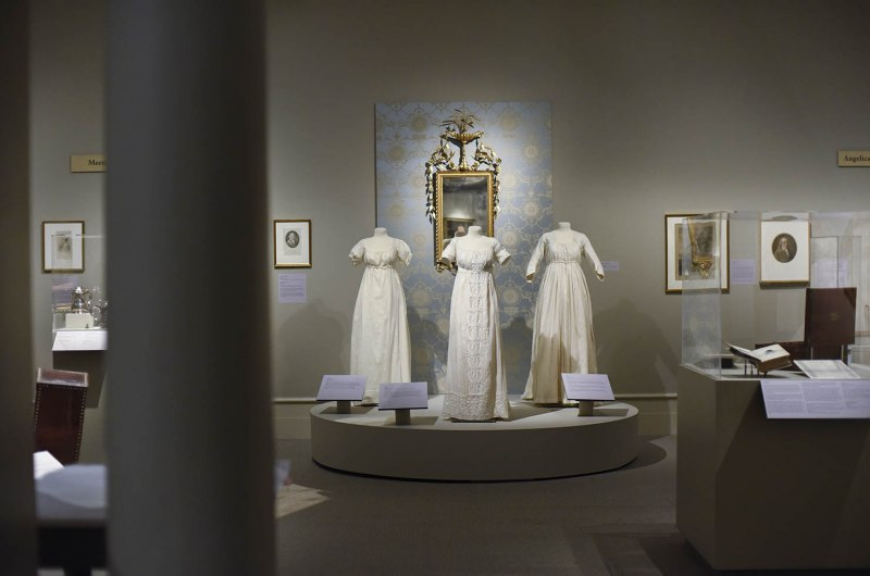 The Schuyler sisters exhibit at the Albany Institute of History and Art in Albany Friday, August 16, 2019.